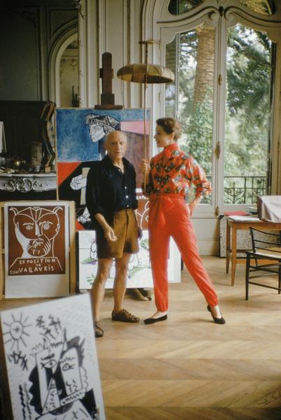 Pablo Picasso with French model Bettina Graziani in his Cannes Villa, La Californie 1955 © 2001 Mark Shaw  - Image 12059_0019