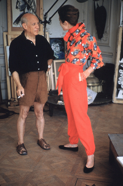 Pablo Picasso with French model Bettina Graziani in his Cannes Villa, La Californie1955 © 2001 Mark Shaw - Image 12059_0020