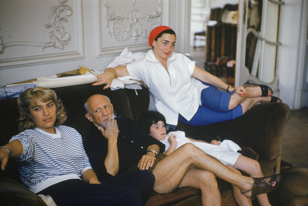 Pablo Picasso with his family (daughter Maya to his right)circa 1955© 2008 Mark Shaw - Image 12059_0021