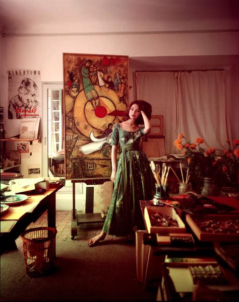 Marc Chagall Studio with modelcirca 1955 © 2000 Mark Shaw - Image 12406_0006