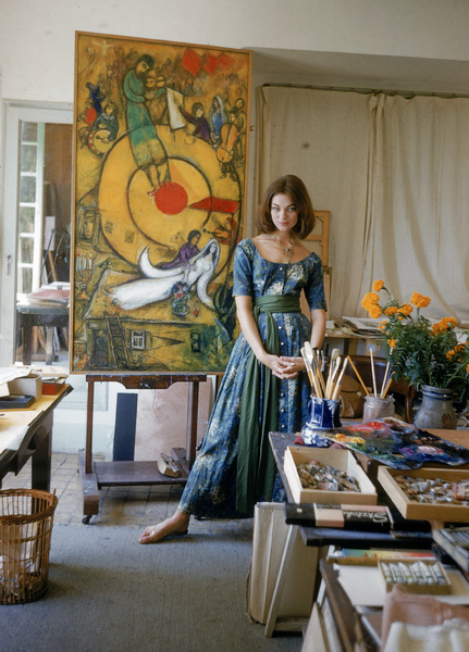 Model Ivy Nicholson in Marc Chagall