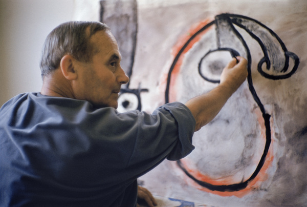 Joan Miro in his Barcelona studio 1955 © 2011 Mark Shaw - Image 12410_0022