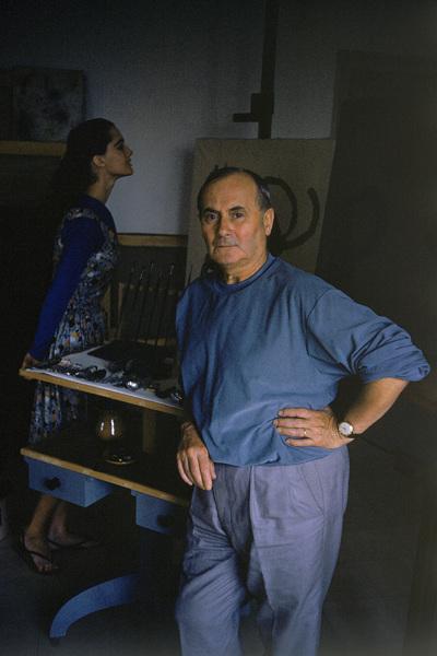 Joan Miro in his Barcelona studio 1955 © 2011 Mark Shaw - Image 12410_0023