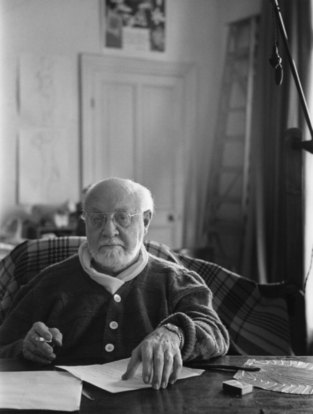 Henri Matisse in Nice, Francecirca 1950Photo by Sanford Roth© 1998 Los Angeles County Museum of Art - Image 12414_0002