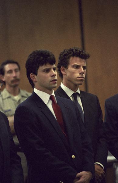 Lyle and Erik Menendez at their trial1990© 1990 Gunther - Image 12429_0001