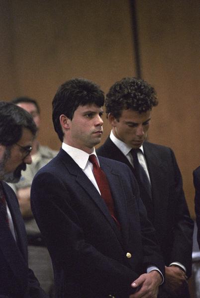 Lyle and Erik Menendez at their trial1990© 1990 Gunther - Image 12429_0003