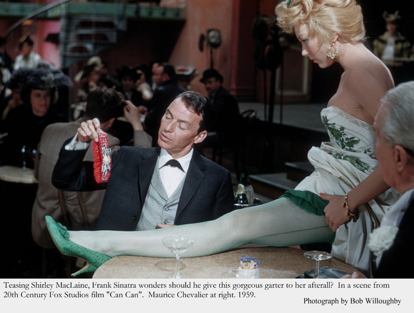 """""""Can Can""""Frank Sinatra & Shirley MacLaine. 1959 © 1978 Bob Willoughby - Image 1260_0016"""