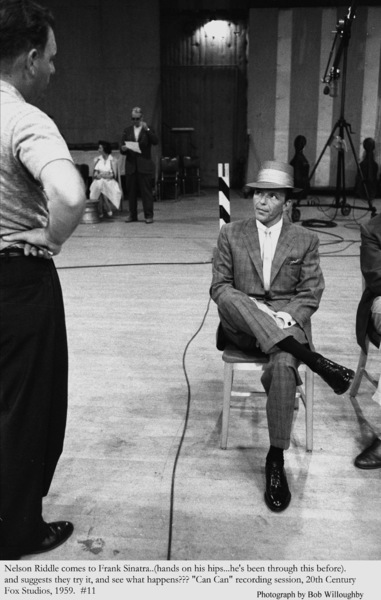 """""""Can Can""""Frank Sinatra & Nelson Riddle during a recording session.1959 © 1978 Bob Willoughby - Image 1260_0038"""