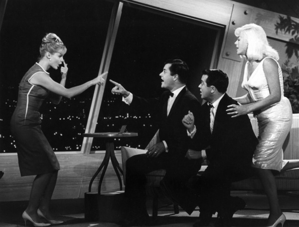 """Pantomime Quiz""Carol Lynley, Richard Long, Diana Dorsc. 1958Photo by Gabi Rona - Image 13106_0006"