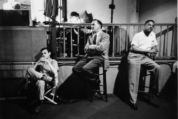 """""""The Benny Goodman Story"""" Recording Session, Universal 1955.Erbie Green and Benny Goodman. © 1978 Bob Willoughby / MPTV - Image 13318_14"""