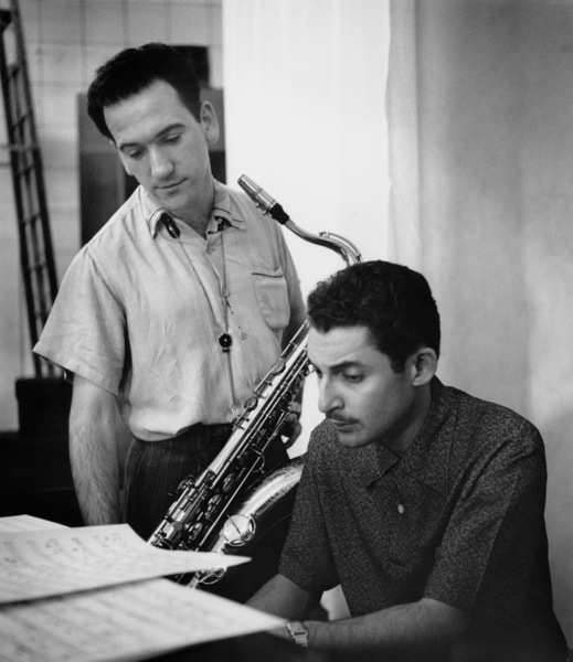 Jack Montrose and Russ Freeman at a recording session, Los Angeles, CA, 1954. © 1978 Bob Willoughby / MPTV - Image 13387_12