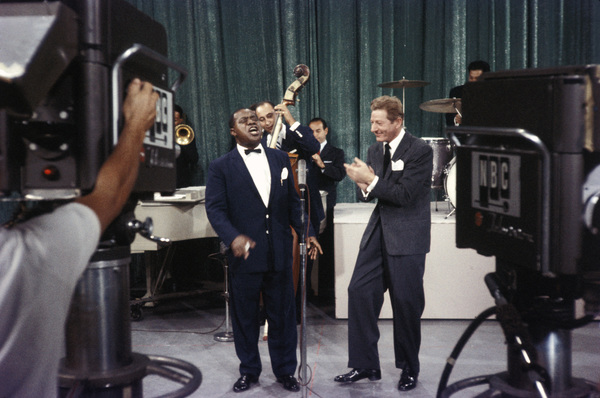 """""""All-Star Christmas Show""""Louis Armstrong, Danny Kaye1958Photo by Gerald Smith - Image 13454_0006"""