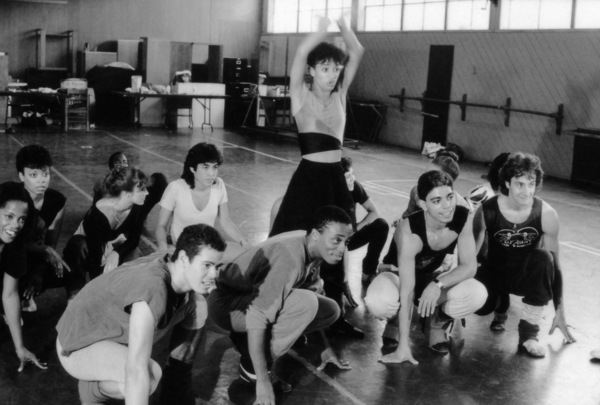 """Michael DeLorenzo and Debbie Allen rehearsing for the television show """"Fame""""circa 1980s© 1980 Bobby Holland - Image 14348_0069"""