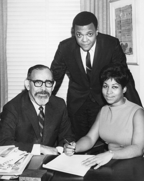 Aretha Franklin with Jerry Wexler and Ted White1966** R.J.C. - Image 16105_0020