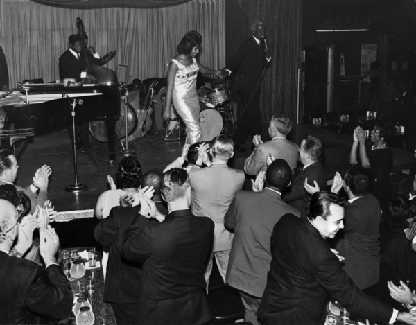 Aretha Franklin walking off stage to a standing ovation (Dave Wynshaw and Fred Salem at bottom right)circa 1960s** I.V.M. - Image 16105_0029