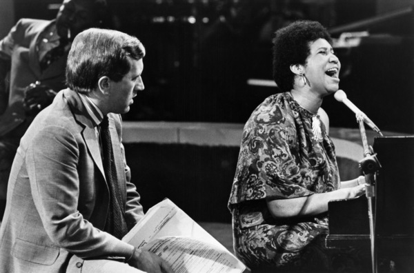 """Aretha Franklin and David Frost on """"The David Frost Show"""" (Aretha"""