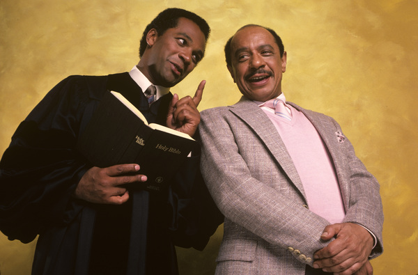 """Amen""Clifton Davis, Sherman Hemsley1987© 1987 Mario Casilli - Image 16531_0014"