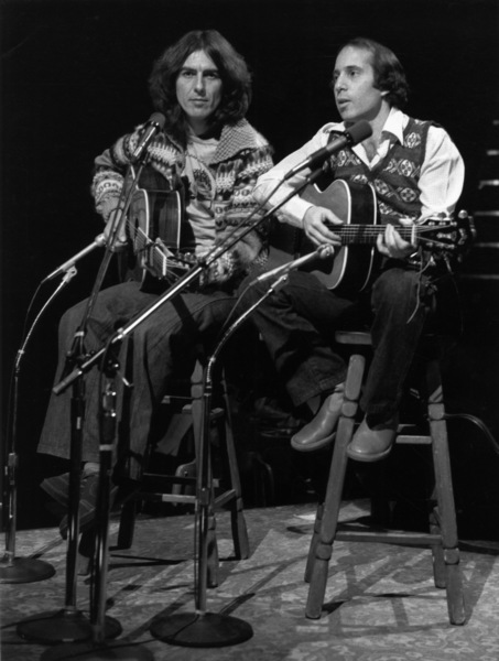 "Paul Simon and George Harrison on ""Saturday Night Live""1976** I.V.M. - Image 16532_0012"