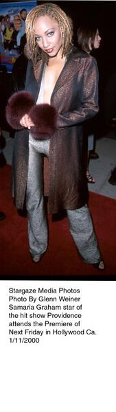"""""""Next Friday"""" Premiere,Samaria Graham.  1/11/00. © 2000 Glenn Weiner - Image 16691_0109"""