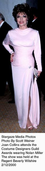 """Costume Designers Guild Awards,""Joan Collins.  2/12/00. © 2000 Scott Weiner - Image 16944_0100"