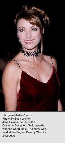 """Costume Designers Guild Awards,""Jane Seymour.  2/12/00. © 2000 Scott Weiner - Image 16944_0102"