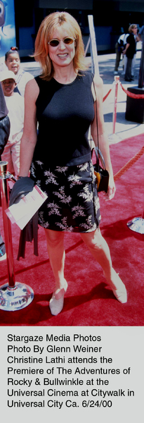 """Adventures of Rocky & Bullwinkle, The"" Premiere,Christine Lathi.  6/24/00. © 2000 Glenn Weiner - Image 16957_0108"