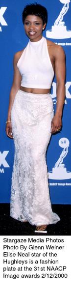 """""""NAACP Image Awards - 31st,""""Elise Neal.  2/12/00. © 2000 Glenn Weiner - Image 16983_0104"""