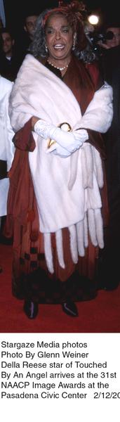"""NAACP Image Awards - 31st,""Della Reeze.  2/12/00. © 2000 Glenn Weiner - Image 16983_0106"