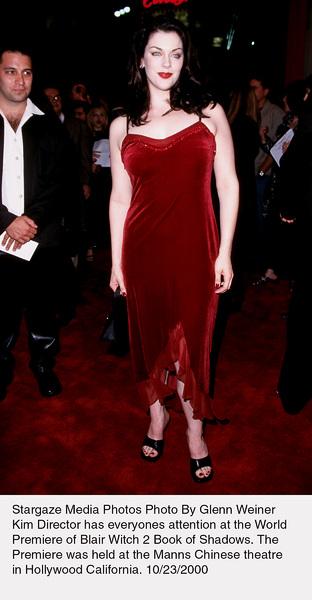 """""""Blair Witch 2: Book Of Shadows"""" Premiere.Kim Director.  10/23/00. © 2000 Glenn Weiner - Image 17270_0104"""