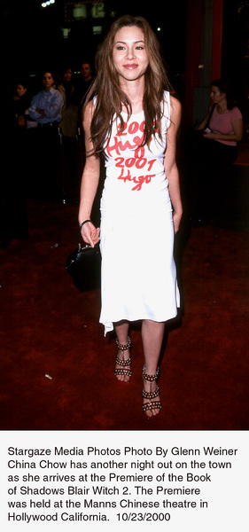 """""""Blair Witch 2: Book Of Shadows"""" Premiere.China Chow.  10/23/00. © 2000 Glenn Weiner - Image 17270_0107"""