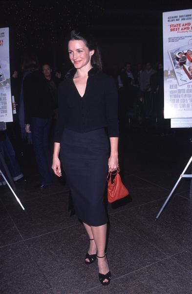 """Kristin Davis""""State And Main"""" Premiere, 12/18/00. © 2000 Scott Weiner - Image 17394_0002"""