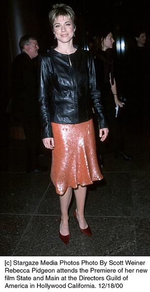 """Rebecca Pidgeon""""State And Main"""" Premiere, 12/18/00. © 2000 Scott Weiner - Image 17394_0103"""