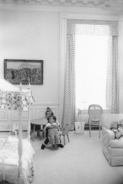 John Kennedy Jr. and Caroline Kennedy at The White Housecirca 1961 © 2000 Mark Shaw - Image 17572_0006