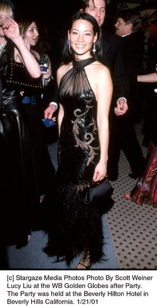 "Lucy Liu""Golden Globe Awards: WB After Party 2001,"" 1/21/01. © 2001 Scott Weiner - Image 17607_0100"