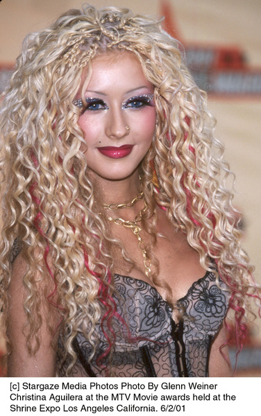 © Stargaze Media Photos Photo By Glenn WeinerChristina Aguilera at the MTV Movie awards held at theShrine Expo Los Angeles California. 6/2/01 - Image 18389_0111