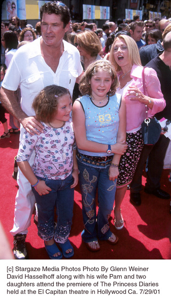 Princess Diaries, The: PremiereDavid Hasselhoff with wife Pam and daughtersEl Capitan Theater, Hollywood, CA  7/29/01 © 2001 Glenn Weiner - Image 18945_0108