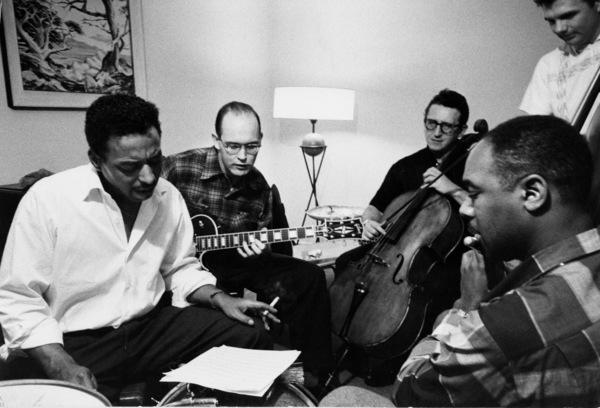 Chico Hamilton rehearsing, Los Angeles, CA, 1956. © 1978 Bob Willoughby / MPTV - Image 1987_102