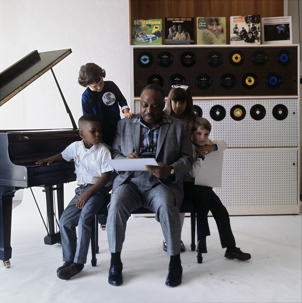 "Count Basie during a photo shoot for the album, ""Basie"
