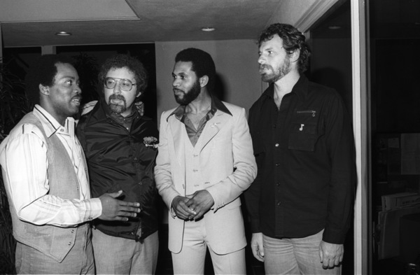 Producer Frank Wilson and Lenny Williams backstage at The Roxy in West Hollywood, California circa mid 1970s© 1978 Bobby Holland - Image 20928_0024
