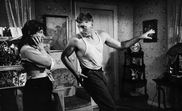 """Burt Lancaster entertaining Anna Magnani during rehearsals for """"The Rose Tattoo""""1955 © 1978 Sanford Roth / AMPAS - Image 23129_0003"""