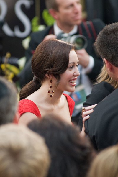 """""""Academy Awards - 80th Annual"""" (Arrivals)Miley Ray Cyrus2-24-08 Photo By Matt Petit © 2008 A.M.P.A.S. - Image 23359_0203"""
