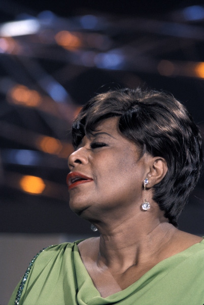 "Ella Fitzgerald performing for an NBC special entitled ""Frank Sinatra: A Man and His Music + Ella + Jobim""1967 © 1978 Ed Thrasher - Image 2353_0109"