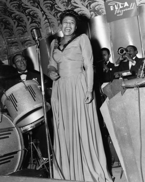Ella Fitzgerald leading her orchestra at the Savoy Ballroom in New York City1940** I.V.M. - Image 2353_0113
