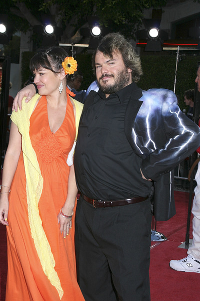 """""""Tropic Thunder"""" Premiere Jack Black, Tanya Haden 8-11-2008 / Mann Village Theater / Los Angeles, CA / Dreamworks / Photo by Max Rodeo - Image 23587_0038"""
