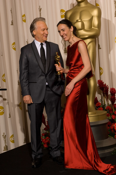 """The 81st Annual Academy Awards"" (Press Room)Bill Maher, Megan Mylan02-22-2009Photo by Bryan Crowe © 2009 A.M.P.A.S. - Image 23704_0306"