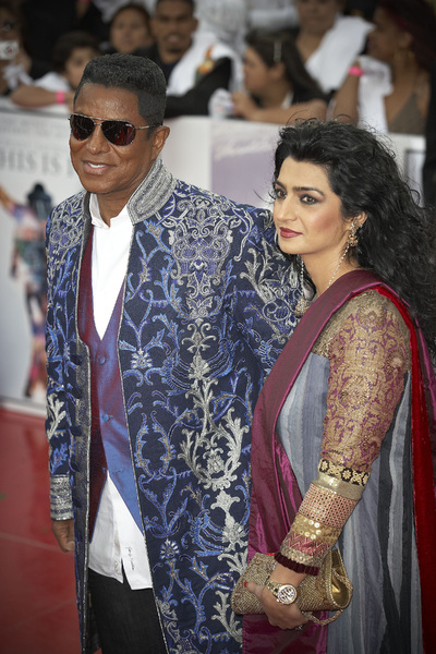"""""""This Is It"""" PremiereJermaine Jackson, Halima Rashid10-27-2009 / Nokia Theatre L.A. Live / Los Angeles, CA / Columbia Pictures / Photo by Benny Haddad - Image 23803_0129"""