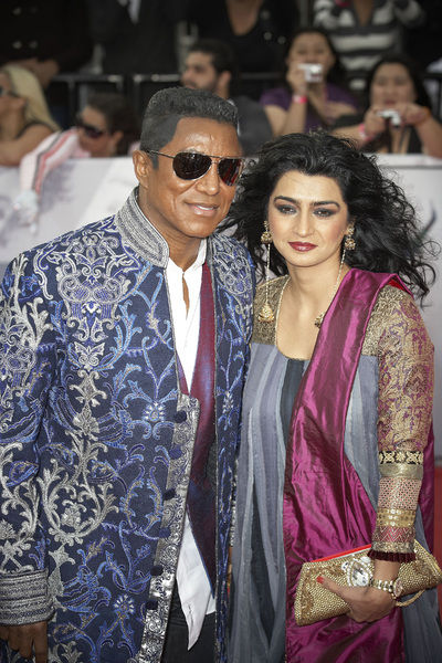"""""""This Is It"""" PremiereJermaine Jackson, Halima Rashid10-27-2009 / Nokia Theatre L.A. Live / Los Angeles, CA / Columbia Pictures / Photo by Benny Haddad - Image 23803_0131"""