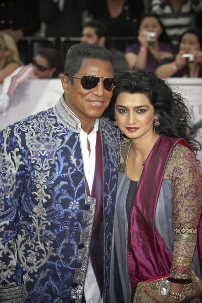 """""""This Is It"""" PremiereJermaine Jackson, Halima Rashid10-27-2009 / Nokia Theatre L.A. Live / Los Angeles, CA / Columbia Pictures / Photo by Benny Haddad - Image 23803_0132"""