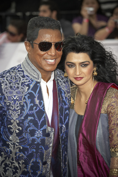 """This Is It"" PremiereJermaine Jackson, Halima Rashid10-27-2009 / Nokia Theatre L.A. Live / Los Angeles, CA / Columbia Pictures / Photo by Benny Haddad - Image 23803_0133"