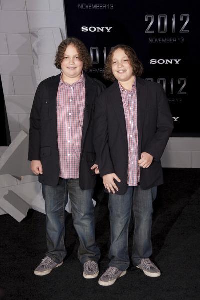 """""""2012"""" PremiereAlexandre Haussmann and Philippe Haussmann11-3-2009 / Regal Cinemas LA Live / Los Angeles CA / Columbia Pictures / Photo by Joelle Leder - Image 23808_0001"""